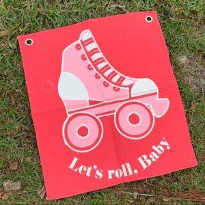 Brand new roller skate flag or wall art